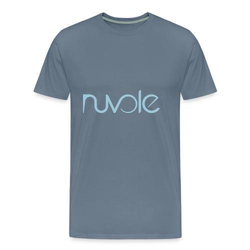 Nuvole - Logo esteso blu - Maglietta Premium da uomo