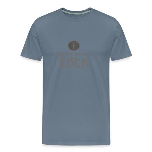 EBER: T-Shirt - Grey - Premium-T-shirt herr