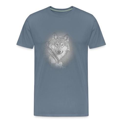 Médaillon Loup - T-shirt Premium Homme