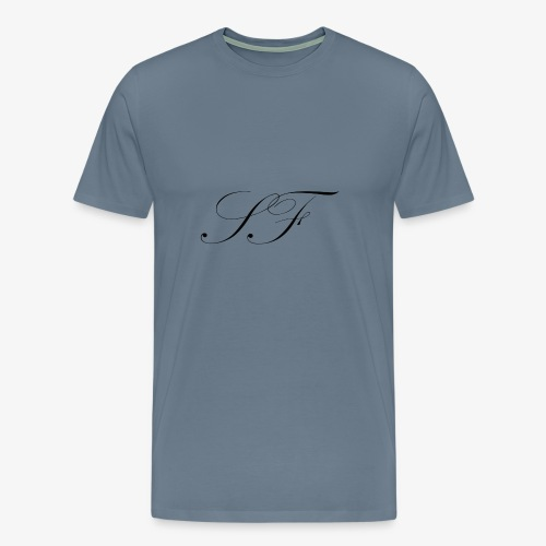 SF HANDWRITTEN LOGO BLACK - Men's Premium T-Shirt