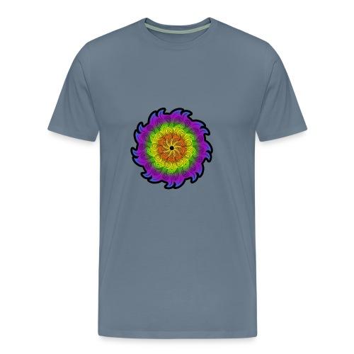 Fiore astratto colorato - Maglietta Premium da uomo