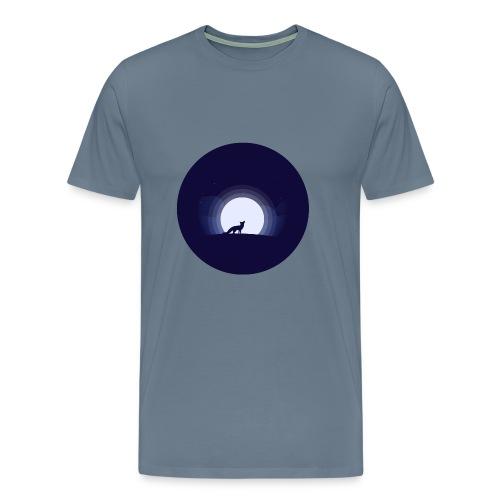 Fuchs Mondschein Nacht Schatten - Männer Premium T-Shirt