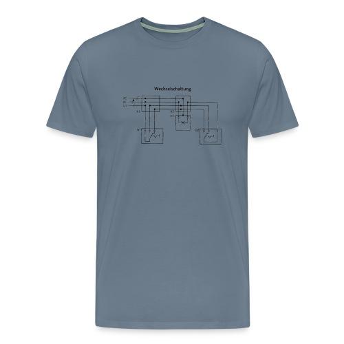 Wechselschaltung schwarz - Männer Premium T-Shirt