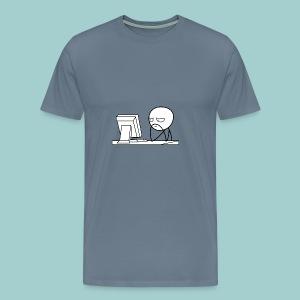 FLUSH Computer Guy - Herre premium T-shirt