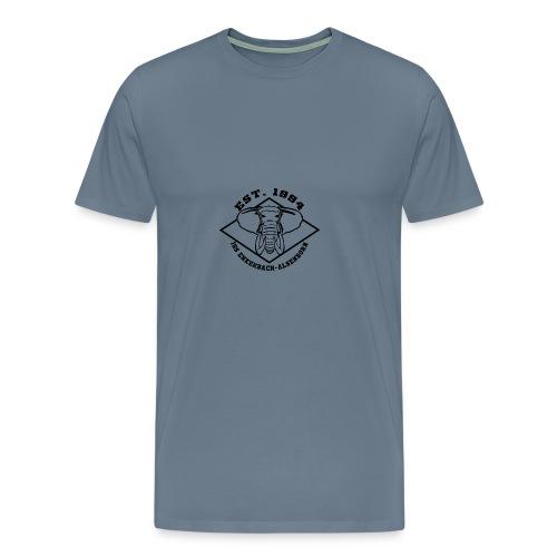 Elefant Logo schwarz - Männer Premium T-Shirt