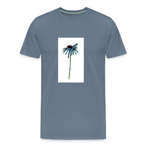 fiore blu - Maglietta Premium da uomo