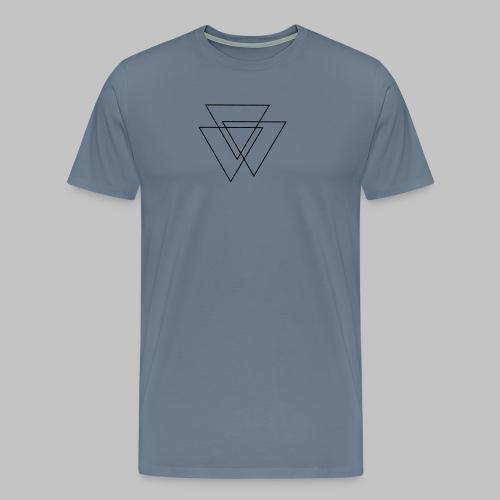triangles Valknut - Men's Premium T-Shirt