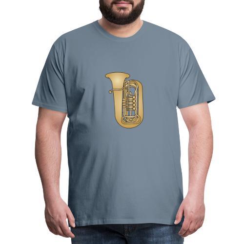 TUBA Blechblasinstrument - Männer Premium T-Shirt