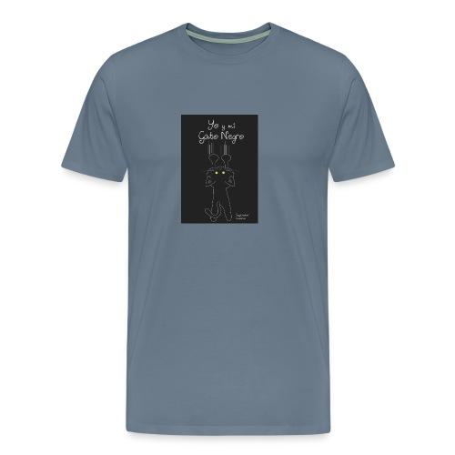 Camiseta gato Negro - Camiseta premium hombre
