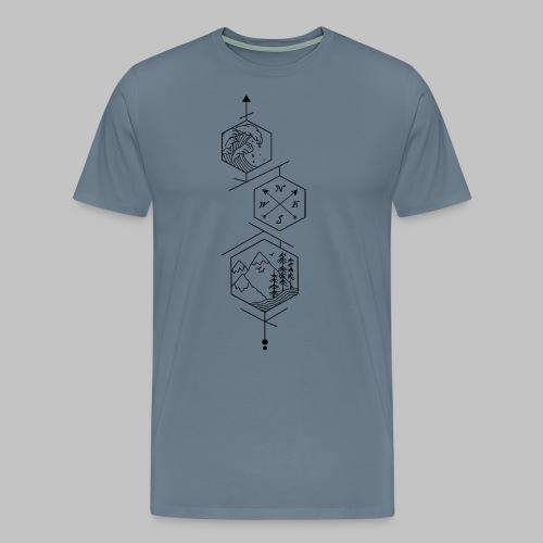 hexagones - Men's Premium T-Shirt