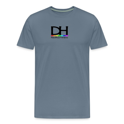 DH Health&Fitness Large logo - Men's Premium T-Shirt