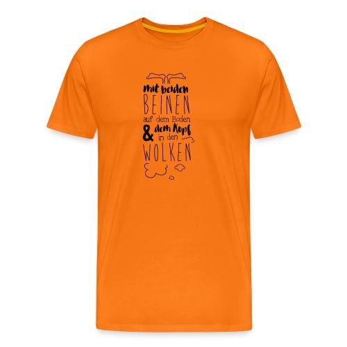 Kopf in den Wolken - Männer Premium T-Shirt