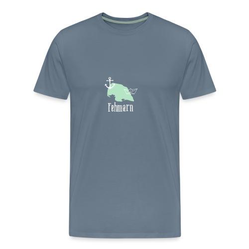 Fehmarn mint weiß Anker Boot - Männer Premium T-Shirt