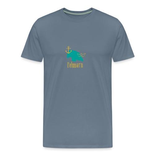 Fehmarn türkis gold Anker Boot - Männer Premium T-Shirt