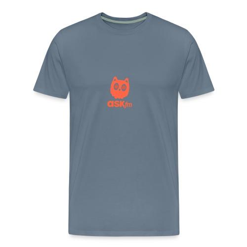 Normale mannen T-Shirt met Askfm logo. - Mannen Premium T-shirt