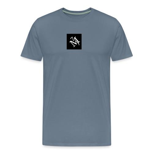 mitt_m--rke_vitt - Premium-T-shirt herr