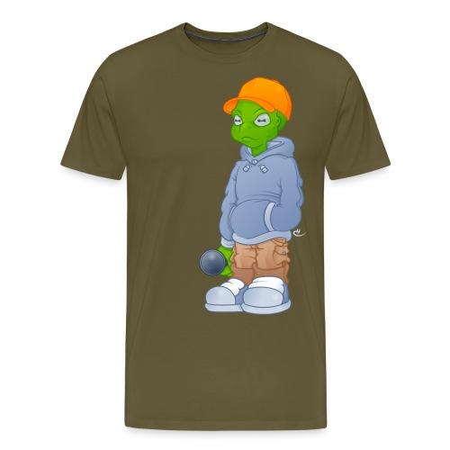 Alien Colour png - Herre premium T-shirt