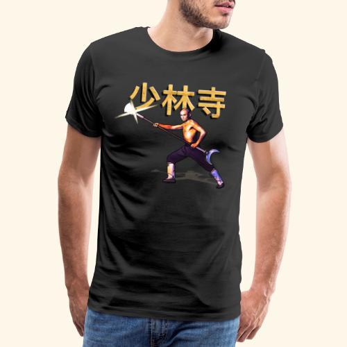 Gordon Liu as San Te - Warrior Monk - Mannen Premium T-shirt