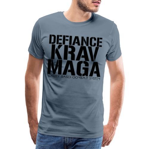 Defiance Krav Maga Stencil - Men's Premium T-Shirt