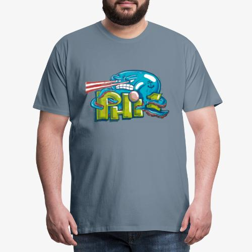 Streetart Oktopus Laser - Männer Premium T-Shirt