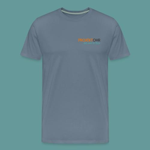 Projekt-Ohr bedruckte Vorder- und Rückseite - Männer Premium T-Shirt