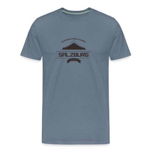 Salzburg-Wandern Logo - Männer Premium T-Shirt