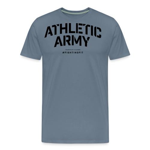 AthleticArmyClassicArch001black png - Men's Premium T-Shirt