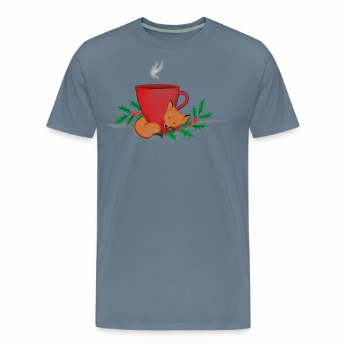 Świąteczny lisek - Koszulka męska Premium