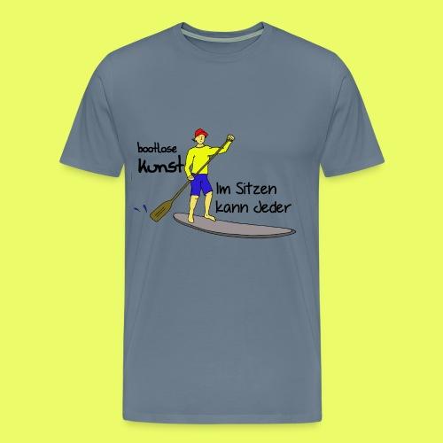 bootlose Kunst im Stehen - Männer Premium T-Shirt
