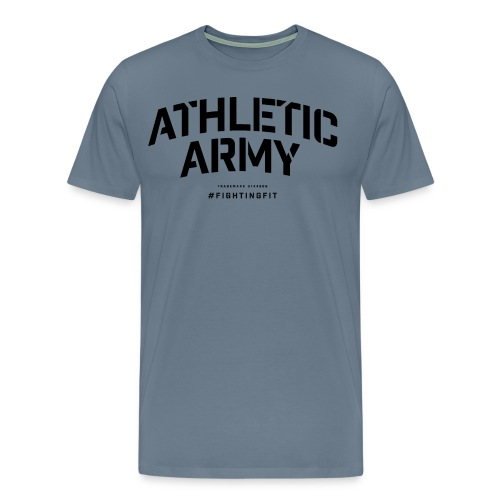AthleticArmyClassicArch001black png - Men's Premium T-Shirt
