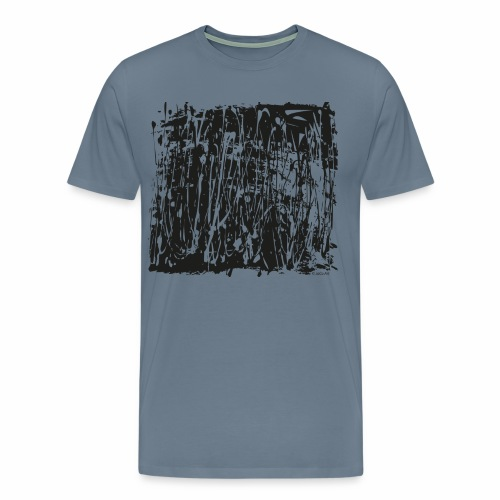 paintBlobBlack2 - Men's Premium T-Shirt