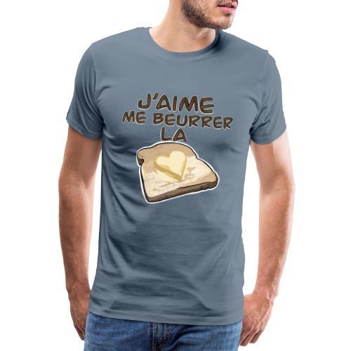 J'aime me beurrer la biscotte V2 - T-Shirt Humour - T-shirt Premium Homme