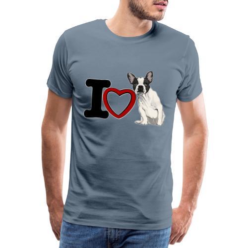 I Love Bouledeogue Français - T-shirt Premium Homme