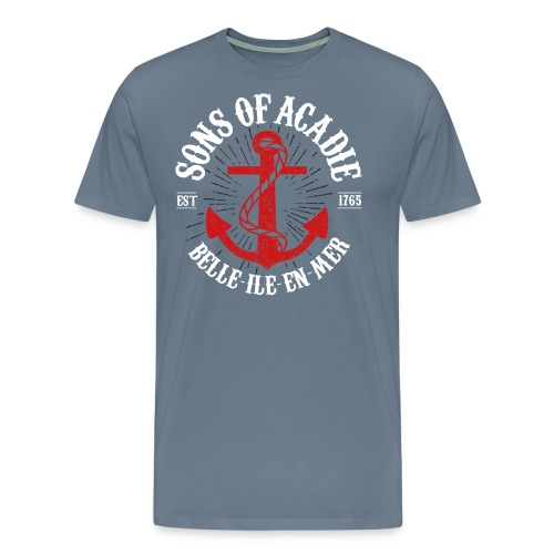 Sons Of Acadie BASE ANCRE BLANC - T-shirt Premium Homme