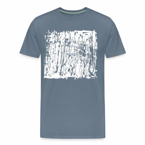 Paint Blob White - Men's Premium T-Shirt