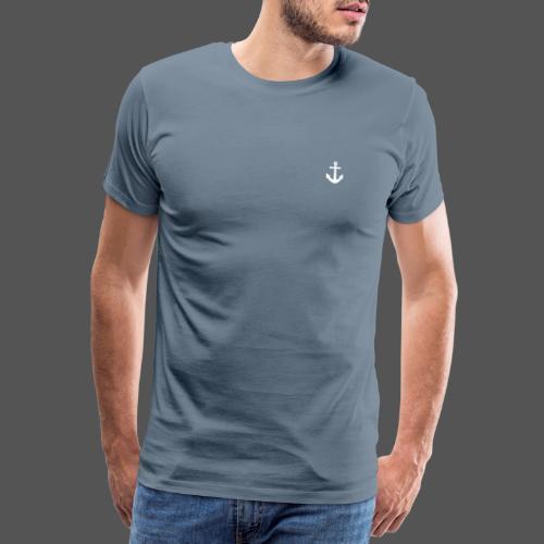 Anker Design T shirt Klassischer weißer Anker - Männer Premium T-Shirt