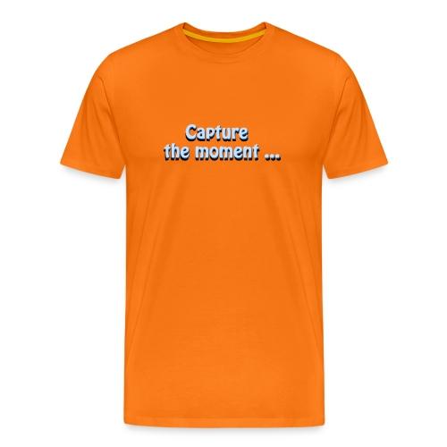 capture the moment photographer`s slogan - Men's Premium T-Shirt