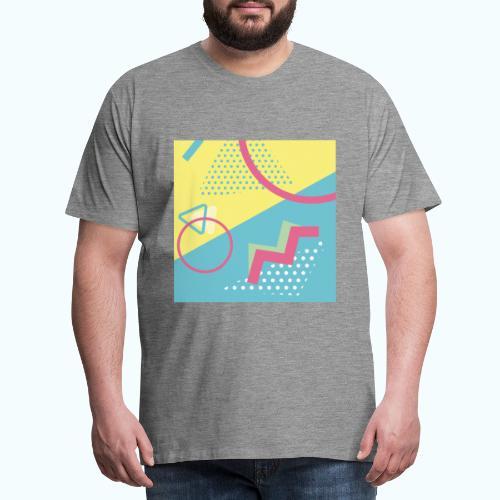 Pastel turquoise geometry - Men's Premium T-Shirt