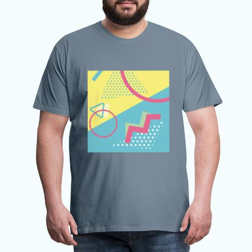Pastel turquoise geometry - Men's Premium T-Shirt