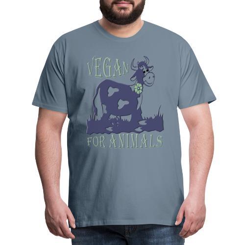 VEGAN FOR ANIMALS - Männer Premium T-Shirt
