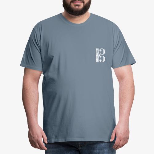 C-Schlüssel für Bratsche, Viola, Cello und Posaune - Männer Premium T-Shirt
