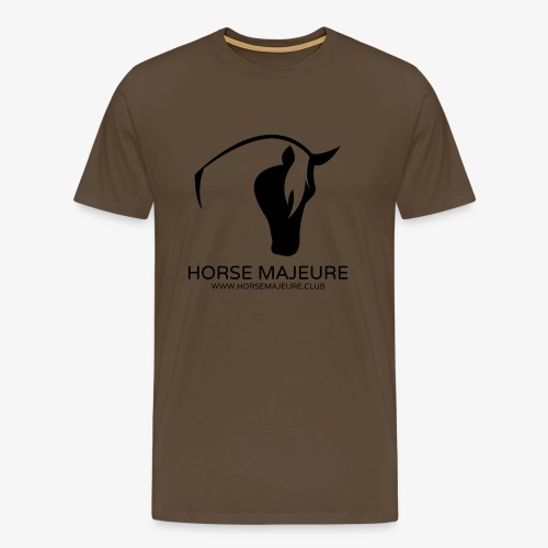 Horse Majeure Logo / Musta - Miesten premium t-paita