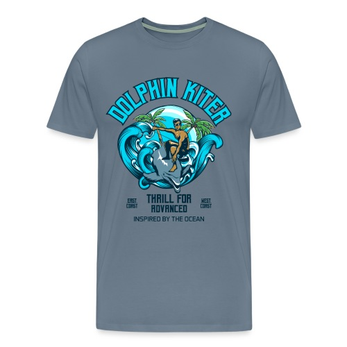Dolphin Kitesurfer for advanced - Männer Premium T-Shirt
