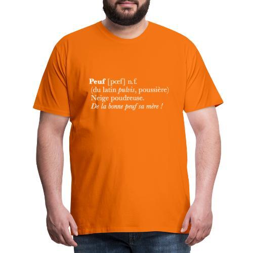 Peuf definition - white - T-shirt Premium Homme