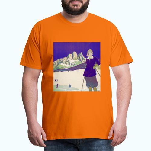 Ski trip vintage poster - Men's Premium T-Shirt