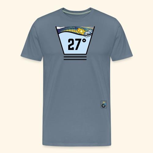 Logo Bubbles Black color - Männer Premium T-Shirt