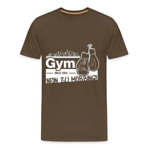 Nein zu Mobbing Men Druckfarbe weiß - Männer Premium T-Shirt
