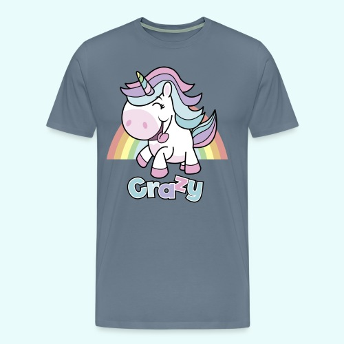 Crazy Unicorn by myLilimals - Männer Premium T-Shirt