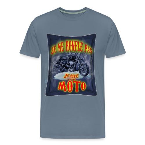 Un motard ne ronfle pas - T-shirt Premium Homme
