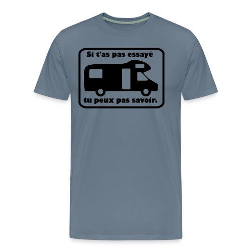 Le camping car il faut l essayer en capucine - T-shirt Premium Homme